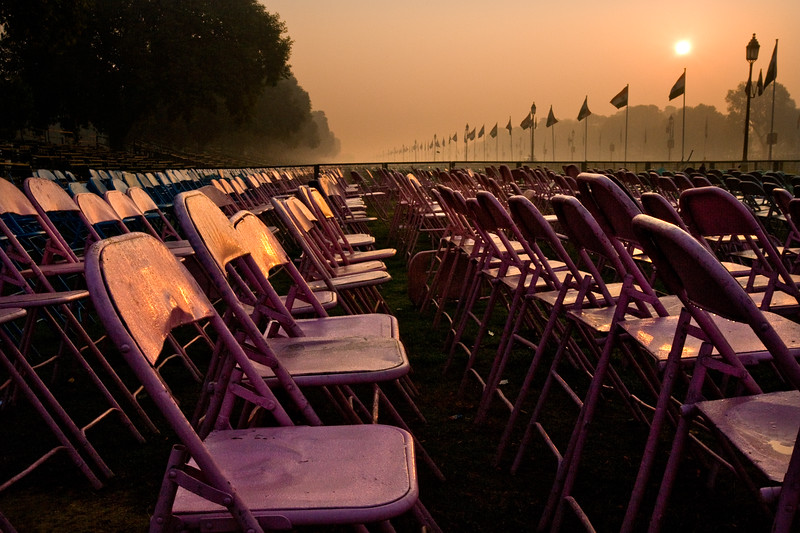 The morning after Republic Day - Delhi, India