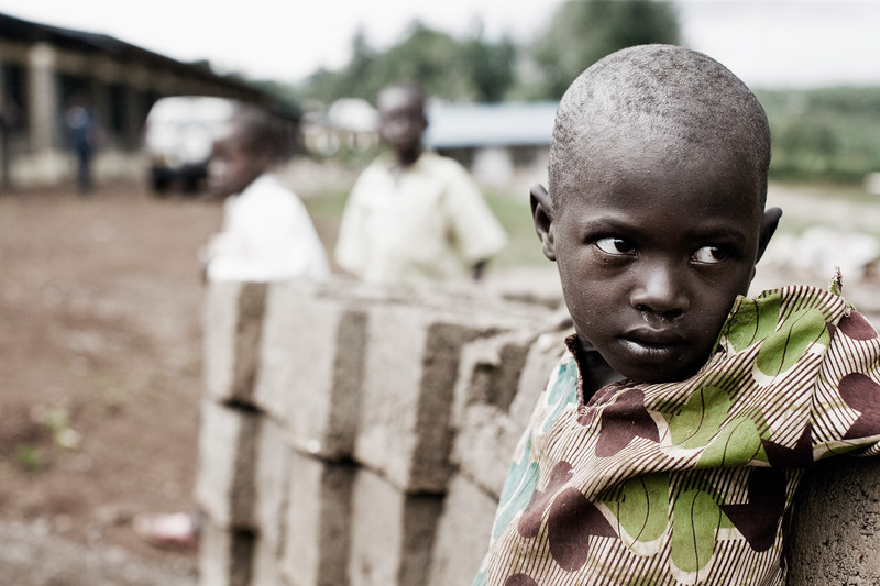 Pupil at Rubona Primary School - Gatsibo District, Rwanda