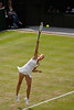 Maria Sharapova - serving at the Wimbledon Championships