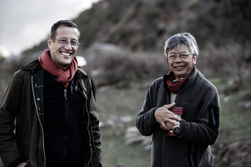 CNN's Richard Quest and Chinese explorer Wong How Man - Eastern Tibet, China