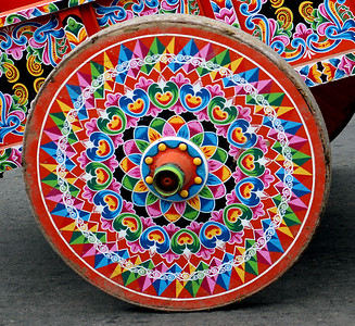 Wooden Oxcart Wheel