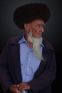 OLD TURKMEN MAN - ASHGABAT, TURKMENISTAN