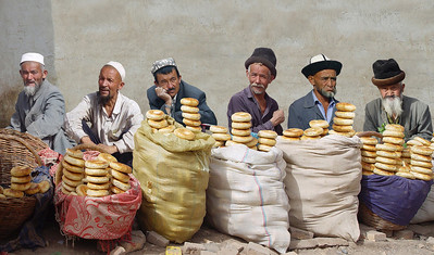 BREAD SELLERS - KASHGAR SUNDAY MARKET