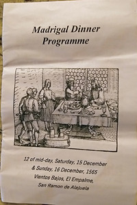 An Impressive 8-page Program!  +  A Christmas Carols Song Sheet Placemat!