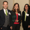 Linda Kligman, Jenkintown Community Alliance, right, presents the Small Business of the Year Award to Michael and Jessica King, King Design, LLC..<br /> Bob Raines 5/19/10