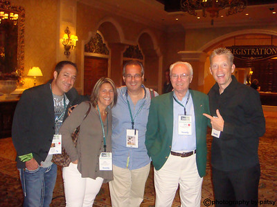 CARMAN, ANGIE, CRAIG, DIK, MICHAEL AFTER MICHAEL'S SHOW IACEP MEETING - VEGAS 2009