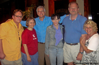 THE FUN CONTINUES after hours - Rick's Sarasota workshop JON, JULIE, RICK SAMMON, BEV, BENJAMIN, PATSY