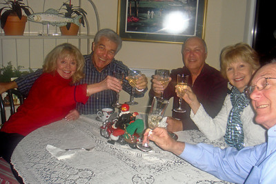 A toast to good times Dianne, Dick, Larry, Sherry, Dik