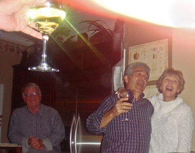 jerry, dick, sherry and hanging martini glass - which kindof describes the evening!