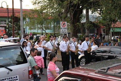 Band in Street Ready to Join the Processional