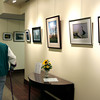 Eileen McDonnell's photographs on display in the lobby of Foulkeways at Gwynedd.<br /> Bob Raines 9/29/10