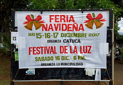 Central Park Sign Promoting Events