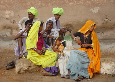 FAMILY AT PUSHKAR CAMEL FAIR