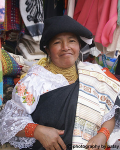 TABLE CLOTH LADY in OTAVALO MARKET EQUADOR