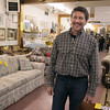 Paul Baur, CEO of Impact Thrift Stores, visiting his Hatboro store.<br /> Bob Raines 12/7/10