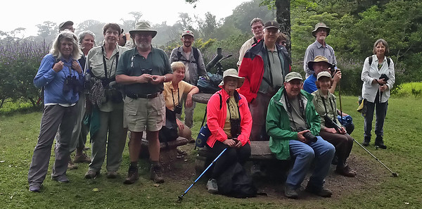 Me (green jacket) with Costa Rica Birding Club