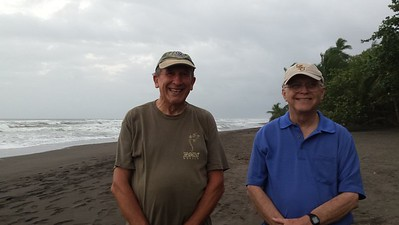 Me with Reagan Frazier on Tortuguero Beach