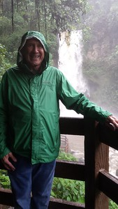Me in Rain at a La Paz Waterfall