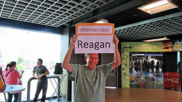 Me at San Jose International Airport with Welcome Sign
