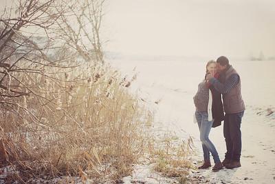 Babybauch Fotos im Winter