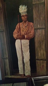 Painting of Indigenous Person in National Museum