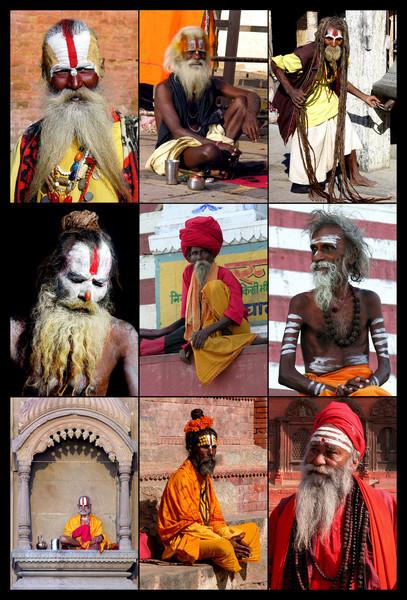 SADHUS - NEPAL AND INDIA