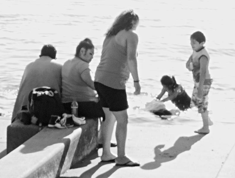 Park Bathers (Soft Focus)  -- Kirkland, Washington (July 2010)