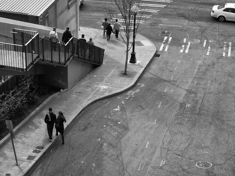 Couple On Street, Pike Place, Seattle (February, 2014)