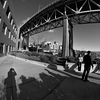 Bridge Smokers (Fisheye Lens) -- Fremont, Seattle (January 2013)