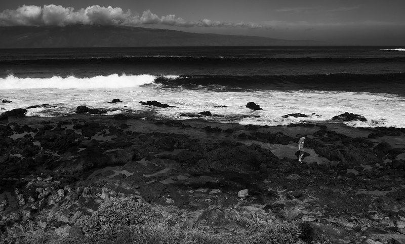 Boy on Rocks -- Maui (December 2012)