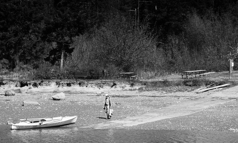 Man & Boat -- Mystery Bay, Washington (April 2015)
