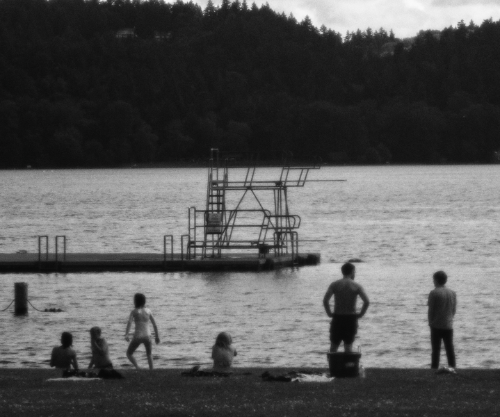 Park Visitors (3) (Soft Focus) -- Matthews Beach, Seattle (July 2012)