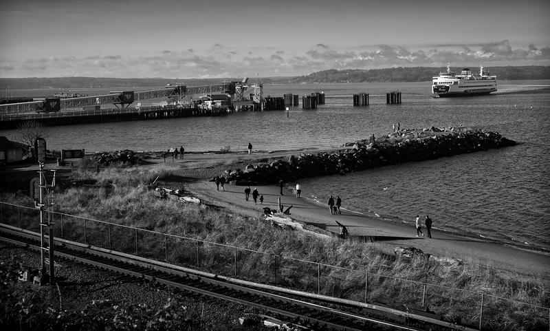 Ferry Arrival -- Edmunds, Washington (January 2013)