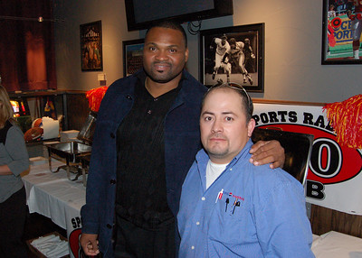 Thats me and Neil Smith former Kansas City Chief player and owner of the Kansas City Brigade arena football team.