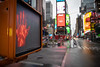 Times Square during the coronavirus pandemic. New York has turned into the epicenter of the COVID-19 coronavirus in the United States with over 4,000 deaths. New York, USA - 04 Apr 2020