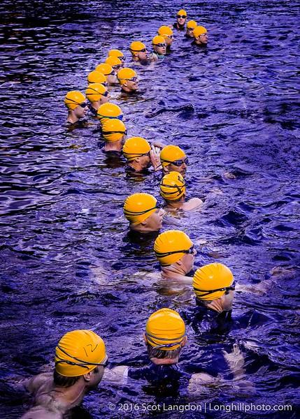 """Swimmers Waiting"" 2016 triathlon, Nashua NH"