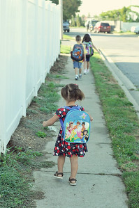 A week later, Gracie gets to join in the fun! Today was her first day of nursery school.  September 14th 2010