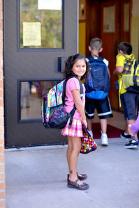 Caught Emily up at the school entering the building.  I don't think it's considered stalking if it's your own kid.