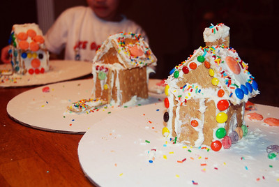 Finished products! I have to say, I really admired Vin's snow-capped roof.
