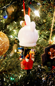 We have tons of Disney ornaments on our tree. The kids enjoy this hot air balloon.