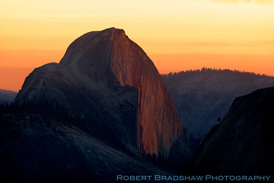 Half Dome at sunset from Olmsted Point  Yosemite National Park