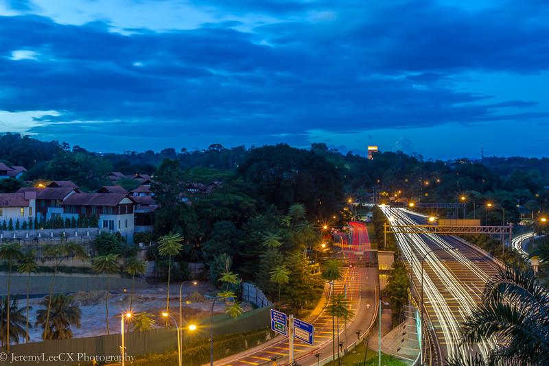 Hilton Kuala Lumpur - The Lounge - Evening View