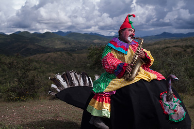 "Don Chava a farmer and a clown poses in Santa Rosa, Puebla. He  performs ""La Maroma"" an ancient circus act in rural areas of Oaxaca and Puebla states of Mexico."