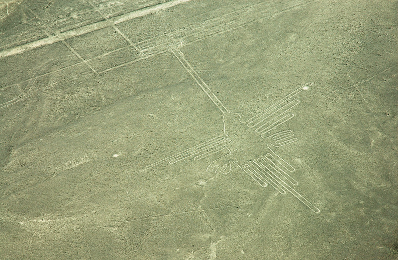 """The Hummingbird""<br /> Mysterious Nazca Lines<br /> Ancient Geoglyphs in the Nazca Desert"