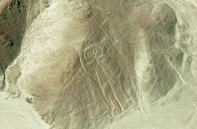 """The Astronaut""<br /> Mysterious Nazca Lines<br /> Ancient Geoglyphs in the Nazca Desert"