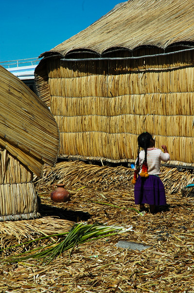 Little Uros Girl<br /> The Uros Floating Islands<br /> Puno, Lake Titicaca