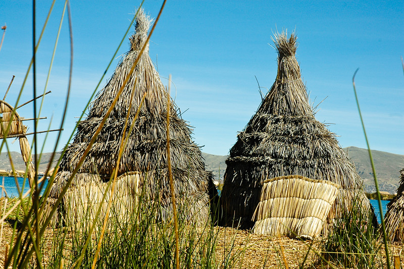 The Uros Islands are literally layers and layers of totora reeds that are weaved together. As they rot from the bottom in the water new layers are added.  The reeds are also used to build their houses and boats as well as the many crafts that they sell throughout the islands. The reeds are truly at the centre of the Uros peoples' lives.