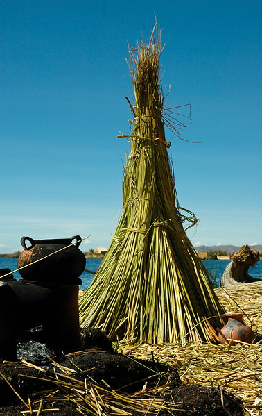 Outdoor Kitchen<br /> Uros Floating Islands<br /> Puno, Peru