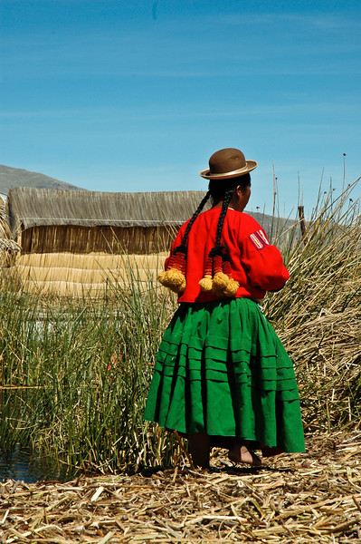 Uros Girl<br /> Uros Floating Islands<br /> Puno, Lake Titicaca