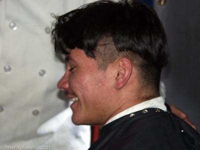 Chef John Cutting Hair